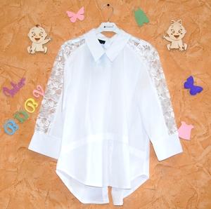 Блузка белая с застежкой сзади