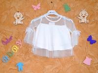 Белая нарядная блуза